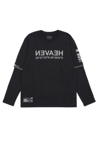 MUSIUM DIV black Letter-printed sweatshirt 6E33FAAC00ECF2GS_1