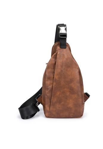 Lara brown Plain Cross Body Bag - Brown AF4B0AC7F83AB9GS_1