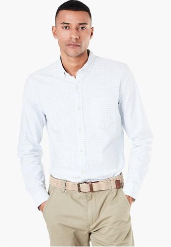 c4cda6bae Dockers blue Dockers Stretch Oxford Shirt, Slim Fit Men 36184-0042  29CF7AA87F3F83GS_1