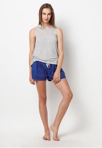 Madeleine's Polkadot Short & Grey Shirt Pajamas