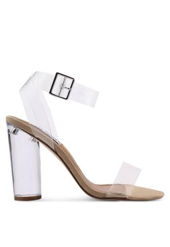 Steve Madden white Clearer Open Toe Ankle Strap Block Heels 04278SHA3E4A0BGS_1