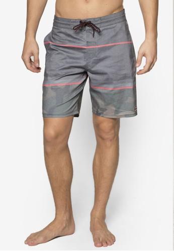 Spinner Lo Tide 撞色條紋衝浪短褲, esprit旗艦店服飾, 沙灘褲及泳裝短褲