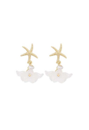 Atrireal ATRIREAL - Starfish with White Coral Stud Earrings CDC1FACE52ED2EGS_1