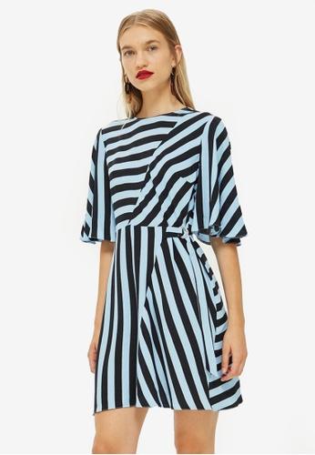 4ac73d948f6a Shop TOPSHOP Diagonal Stripe Mini Dress Online on ZALORA Philippines