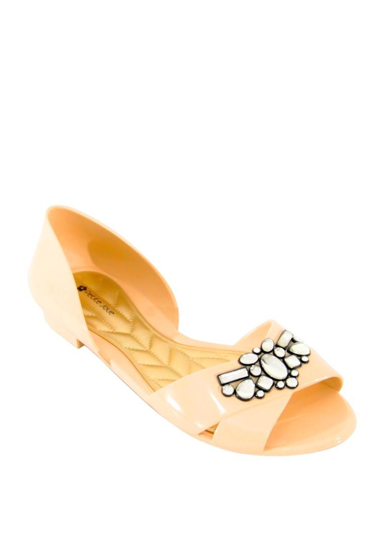 Gem Open Toe Flat Sandals