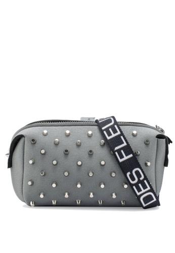 La Fille Des Fleurs grey G- Pouch Studded Belt Bag 8EB41ACFD337B6GS_1