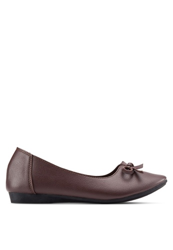 Louis Cuppers brown Bow Detail Flats LO977SH64ENZMY_1
