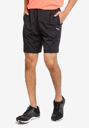 "PUMA black Active Polyester 8"" Men's Shorts 24B5DAAE59F37CGS_1"