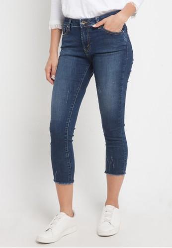 Lois Jeans blue Skinny Capri Pants Stretch Denim 49D68AA460FADFGS_1