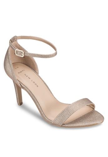 esprit台灣網頁閃飾繞踝高跟鞋, 女鞋, 鞋