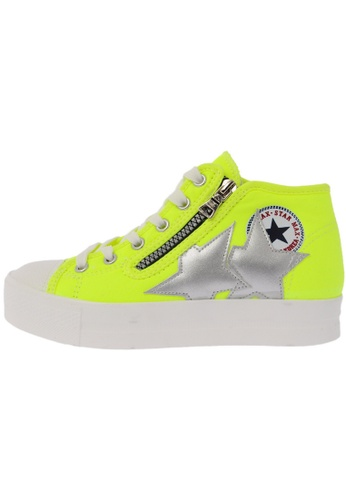 Maxstar C5 6Holes Synthetic Leather White Platform Canvas Sneakers US Women Size MA168SH04DKTHK_1