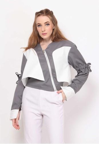 Frances.RTW white and grey Glenne. Puff Jacket C9955AA7E83784GS_1
