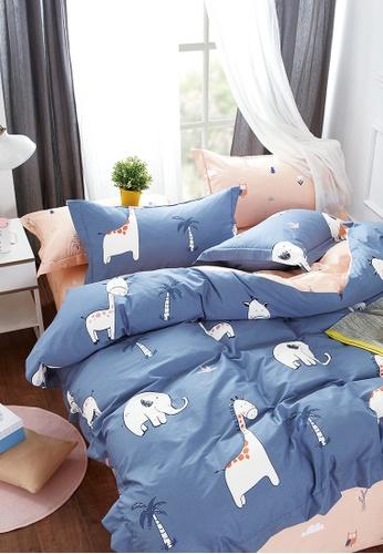 Epitex pink and blue Epitex CK2031-3 900TC Cotton Bedsheet / Bedset (w quilt cover). E863BHL5D069BBGS_1