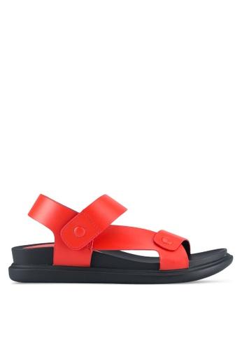 VINCCI red Sporty Strap Sandals VI831SH0SY3IMY_1