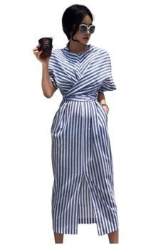 831ae70c99c Sunnydaysweety multi Temperament New Striped One Piece Dress CA051605  FCF5AAA12C1292GS_1