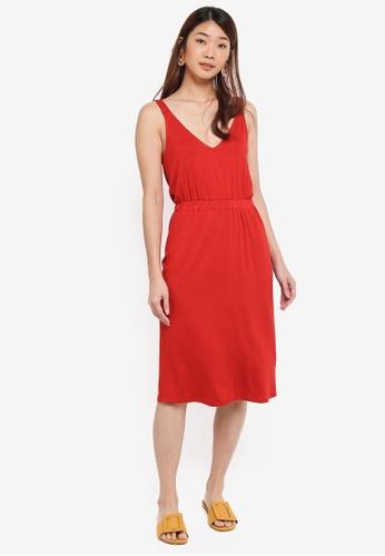WAREHOUSE orange V Neck Cami Dress 0413EAA98AB27DGS_1