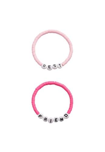 MANGO KIDS pink Best Friends Bracelets Set 65EF6KC918AD5BGS_1