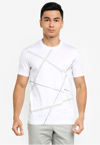 ck Calvin Klein white DOUBLE MERCERISED PRINTED COTTON TOP B1A23AA18B4AAAGS_1