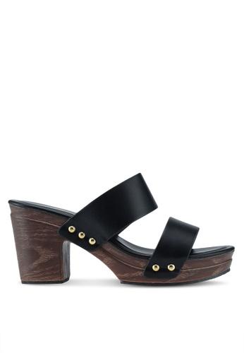 Bata black Slide On Heels 64CC7SH543E4A1GS_1
