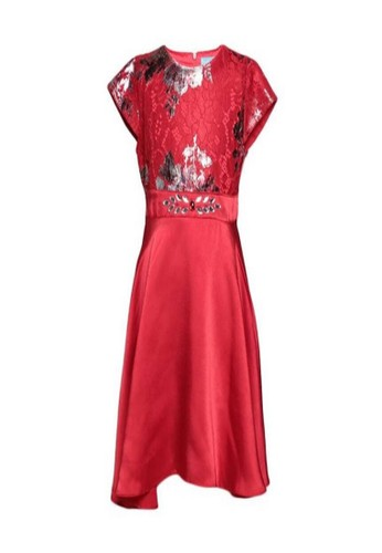 Versail red Versail Enfant Dress Brukat Bunga SS7251 058B3KA54323D6GS_1