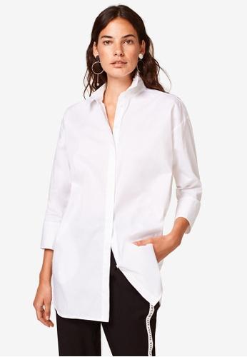 ESPRIT white Woven Long Sleeve Shirt F6AF3AACC69E80GS_1