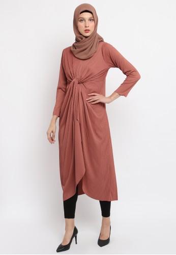 INSTYLE BY SURI pink Veline Dress in Peach 8EA18AA2BA06C1GS_1