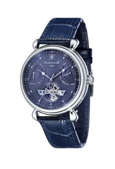 Thomas Earnshaw Grand Calendar Es-8046-06 Men's Genuine Leather Strap Watch