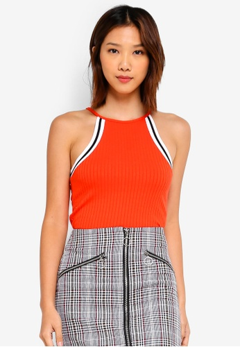 6aa257e6555c12 Shop Factorie Rib High Neck Tank Top Online on ZALORA Philippines