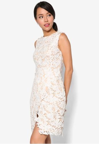 鉤針蕾絲 esprit門市地址裹式連身裙, 服飾, 洋裝