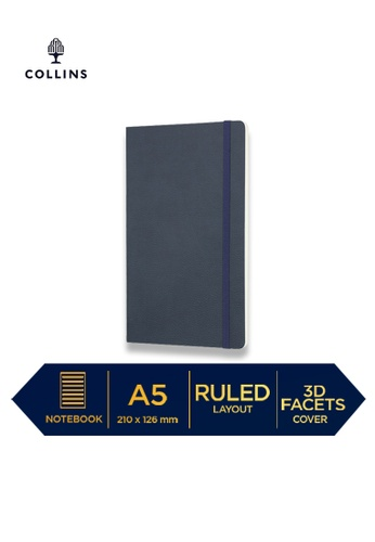 Collins blue Collins Clementine - Notebook A5 Slim Ruled-Navy 4D79AHL87FA44BGS_1