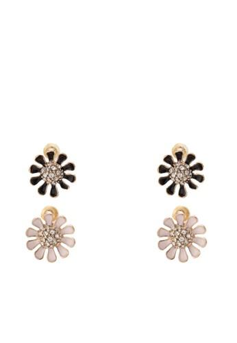 Laforgia esprit 品質二入花飾耳環, 韓系時尚, 梳妝