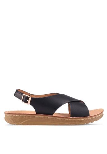 Noveni black Strappy Sandals 3C624SH6AA5C87GS_1