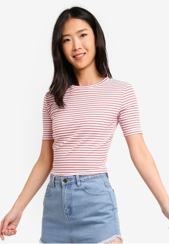 2e2be5ea149bb Buy ZALORA BASICS Basic Rib Crop Top Online on ZALORA Singapore