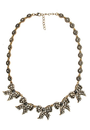 Istana Accessories Kalung Ryana Ribbon Fashion Necklace - Gold