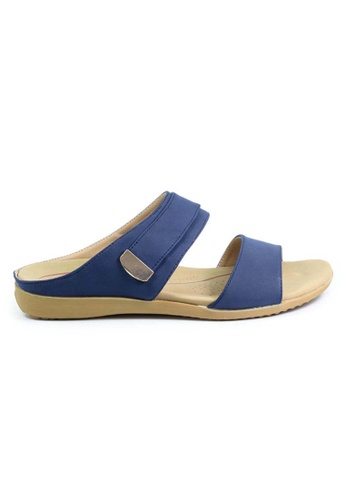 BNC blue and navy Slide Sandals 908BCSHF8E5F99GS_1