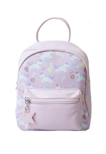 Adkidz pink Adkidz mini unicorn printed backpack CC66AKCCD86A0CGS_1