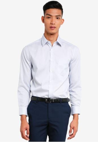 G2000 grey Mini Checked Cotton Long Sleeve Shirts 15589AA75023E4GS_1