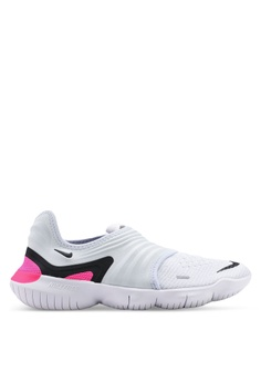factory price d35f7 5418b Nike white and blue and multi Women s Nike Free RN Flyknit 3.0 Shoes  E5015SHDB68B13GS 1