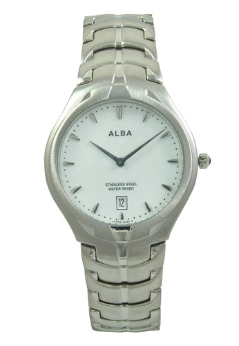 ALBA silver ALBA Jam Tangan Pria - Silver White - Stainless Steel - AVKB17  AL383AC0V4YQID 1 8e608dadf0