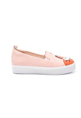 Elisa Litz pink Sleeping Fox Sneakers (Pink) BF56ASH0B21358GS_1