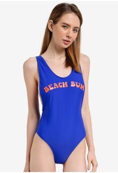 Beach Bum Slogan Swimsuit