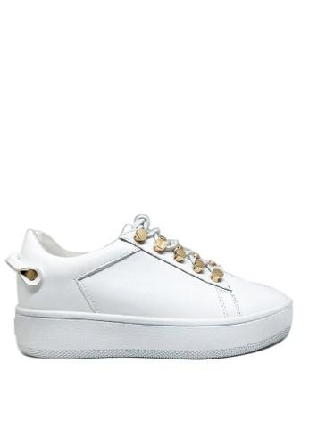 Twenty Eight Shoes 金屬釦厚底運動鞋T8296-318 EBE39SHA4E141AGS_1