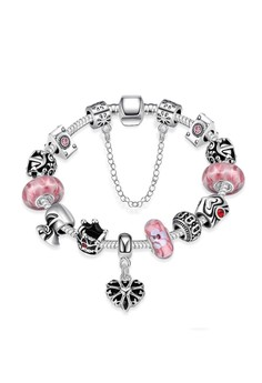 925 Plated Pandee Bracelet (Pink)