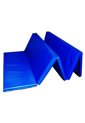 "Impulse blue Archean Vinyl Coated Gym Mat (1.5"" Thick) B6085SE6FE5B4FGS_1"