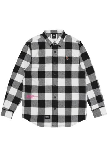 Fingercroxx black Logo flannel shirt B3FE9AA7C09920GS_1