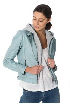 Gipsy blue Angel leathert jacket with hood 8A7B9AAA544508GS 1 4b2dcf5b7