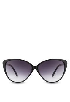 Black Oversized Cats Eye Shape Sunglasses