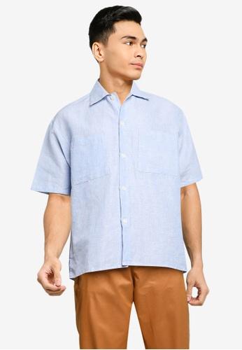 niko and ... blue Woven Shirt 206EBAAD8B76E4GS_1