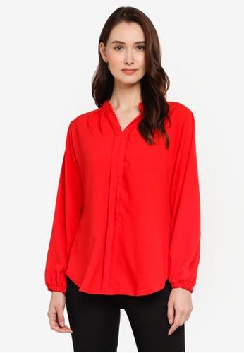Aqeela Muslimah Wear red Kebaya Top D887DAACC18C60GS_1