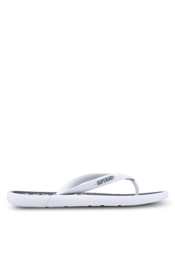 Superdry white and navy Surplus Goods Flip Flops 964EESH3823211GS_1